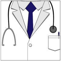 Doctor jacket icon